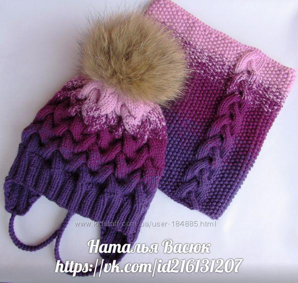 Яркие и теплые шапочки и наборчики ручной работы.