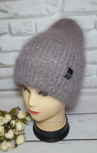 Шикарная шапка из ангоры для девушки В Наличии.