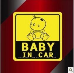 Наклейка в автомобиль Baby in car