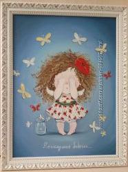 Продам копию Гапчинской Е. Непослушные бабочки