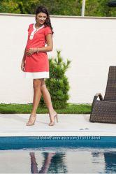 Платье Дианора коралловое