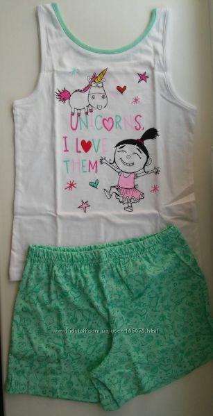 Пижама хлопковая майка и шорты PRIMARK