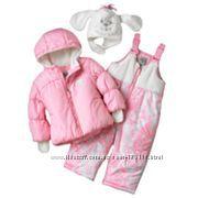 Теплый зимний комбинезон для малышки 24м