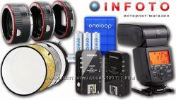 Адаптеры М42 Canon, Nikon, бленда, макрокольца, отражатели, вспышки Yongnuo