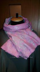 Продам шарф шерстяной валяный