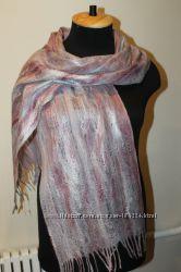 Валяный шерстяной шарф-паутинка Эллегия