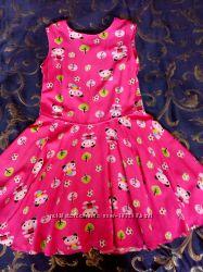 Платье р 128-134, штапель, хлопок