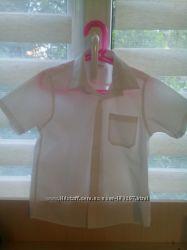 Рубашка школьная 7 лет бу M&S