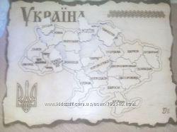 карта-пазл Україна, Франція, Німеччина