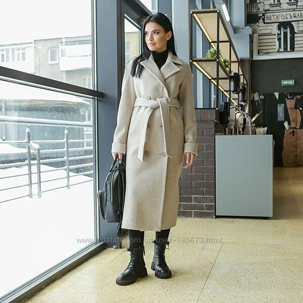 Брендовое пальто макси Торонто, разные цвета, р 40-52