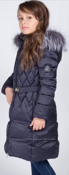 Пуховик пальто куртка детская для девочки  Борелли Borelli зима