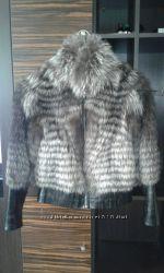 Модный полушубок, чернобурка