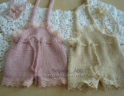 Обмотки, шапки для фотосессий новорожденных. Пледы на выписку