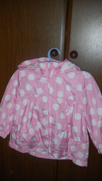 Розовый плащик H&M в горошек