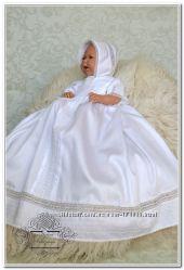 Крестильная рубашка для мальчика, девочки Жемчужина. Комплект для крещения