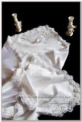 Эксклюзивная крестильная именная крыжма Элит вышитая бисером
