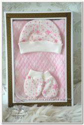 Плед на выписку для новорожденного Звезды