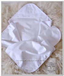 Эксклюзивная крестильная крыжма из сатина премиум, ручная вышивка бисером