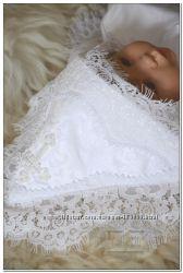 Эксклюзивная именная крестильная крыжма Купина, ручная вышивка бисером