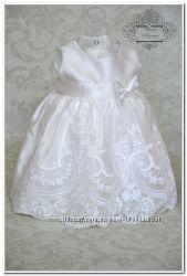 Изящный летний набор комплект на выписку  Версаль платье и повязка