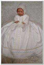 Очаровательное крестильное платье рубашка для крещения Жемчужная