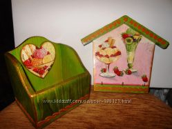 Кухонный набор ручной работы Фруктовое мороженное