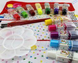 Набор юного художника, 12красок, 2кисти, палитра.