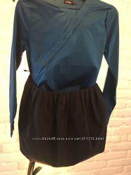 Kate Spade Saturday Pleated Tulip Skirt Size 4 черная