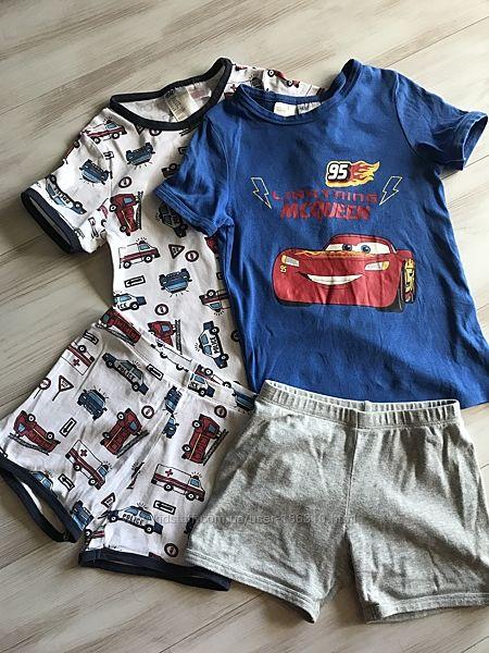 Комплект H&M пижам, шорты и футболки