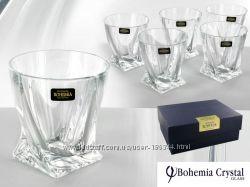 Набор стаканов для виски 340 мл 6 шт Bohemia Quadro