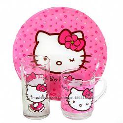 Набор Hello Kitti sweet pinc Luminarc  3 предмета