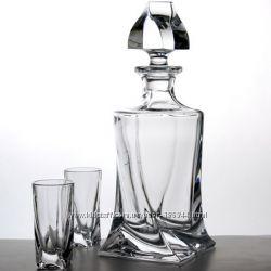 Набор рюмок для ликера и водки Bohemia Quadro. Новый набор.