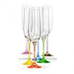 Стаканы, бокалы, рюмки, стопки Rainbow 350, 550, 300 мл 6шт Bohemia. Новые.