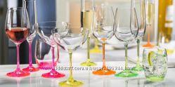 Бокалы Bohemia Neon шампанское, вино, мартини, вода.