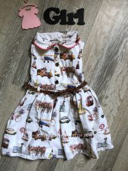 платье для малышки I love next 6-9 мес 72 см