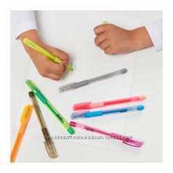 Гелевые ручки МОЛА, 8 штук. ИКЕА