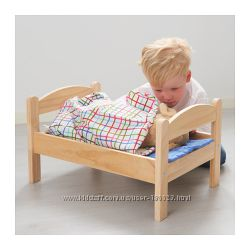 Кукольная кровать с комплектом постельного белья ДУКТИГ. ИКЕА
