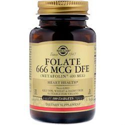 метафолин фолиевая  Solgar, Folate As Metafolin, 400 mcg, 800 мг