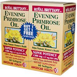 вечерняя примула Evening Primrose Oil, 1300 mg 60 Softgels Each