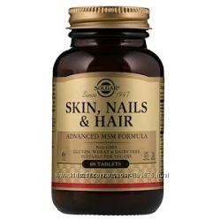 60 120  витамины кожи волос ногтей Solgar Skin Nails & Hair, Advanced MSM