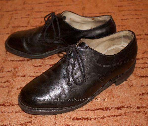 Туфли кожаные мужские, по стельке 27 см