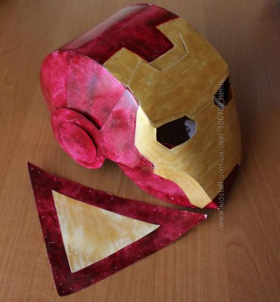 Маска супергероя Iron-man Айрон-мен, ручная работа из картона