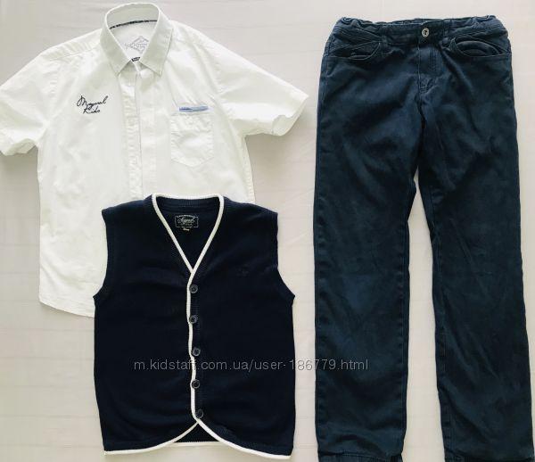 Набор вещей Mayoral Брюки белая рубашка с коротким рукавом жилет