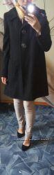 Стильное шерстяное пальто Next oversize