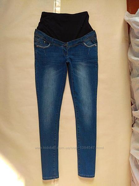Стильные джинсы скинни для беременных C&A,12 pазмер.