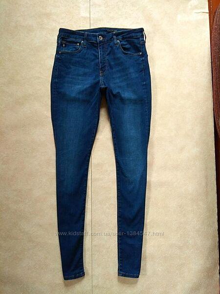 Брендовые джинсы скинни с высокой талией H&M, 12 размер.