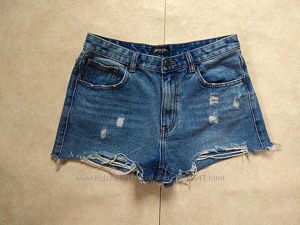 Стильные джинсовые шорты c высокой талией Nasty gal, 12 размер.