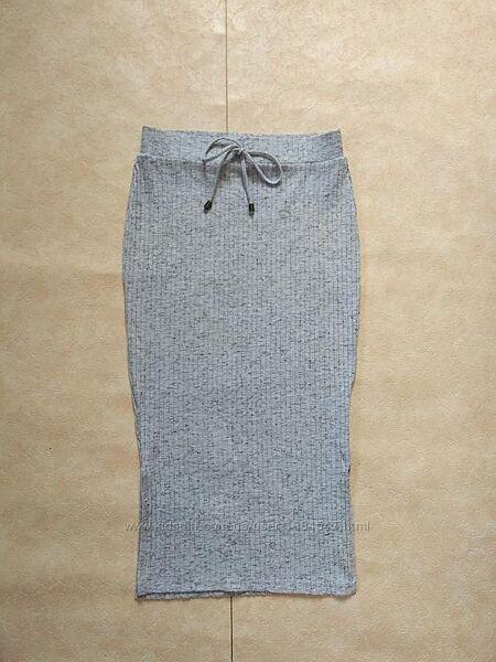 Стильная юбка миди лапша с высокой талией Tu, 8 размер.