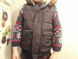 Демисезонная теплая куртка, желетка бу 18-24мес,  George