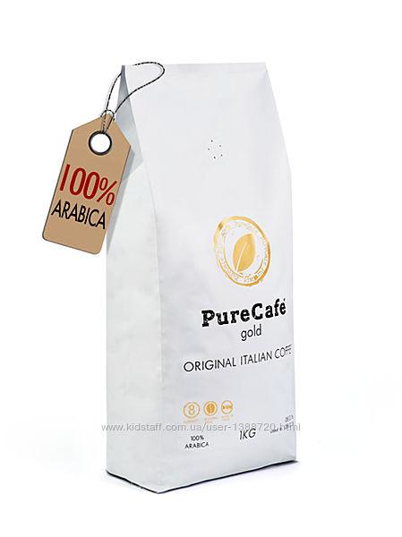 Кофе PureCafe Gold, 100 Арабики, зерно, Италия, 1кг.
